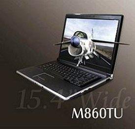 Notebook Eurocom M869TU basada en la plataforma Montevina