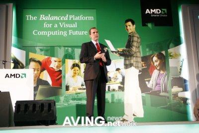 Presidente de AMD aunciando AMD PUMA