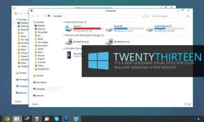 Tema TwentyThirteen para Windows 8