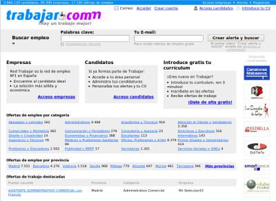 Portada del portal Trabajar.com